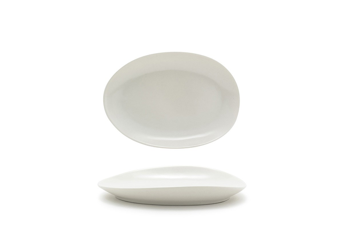 "8"" Oval Tides®  Plate - Scallop"