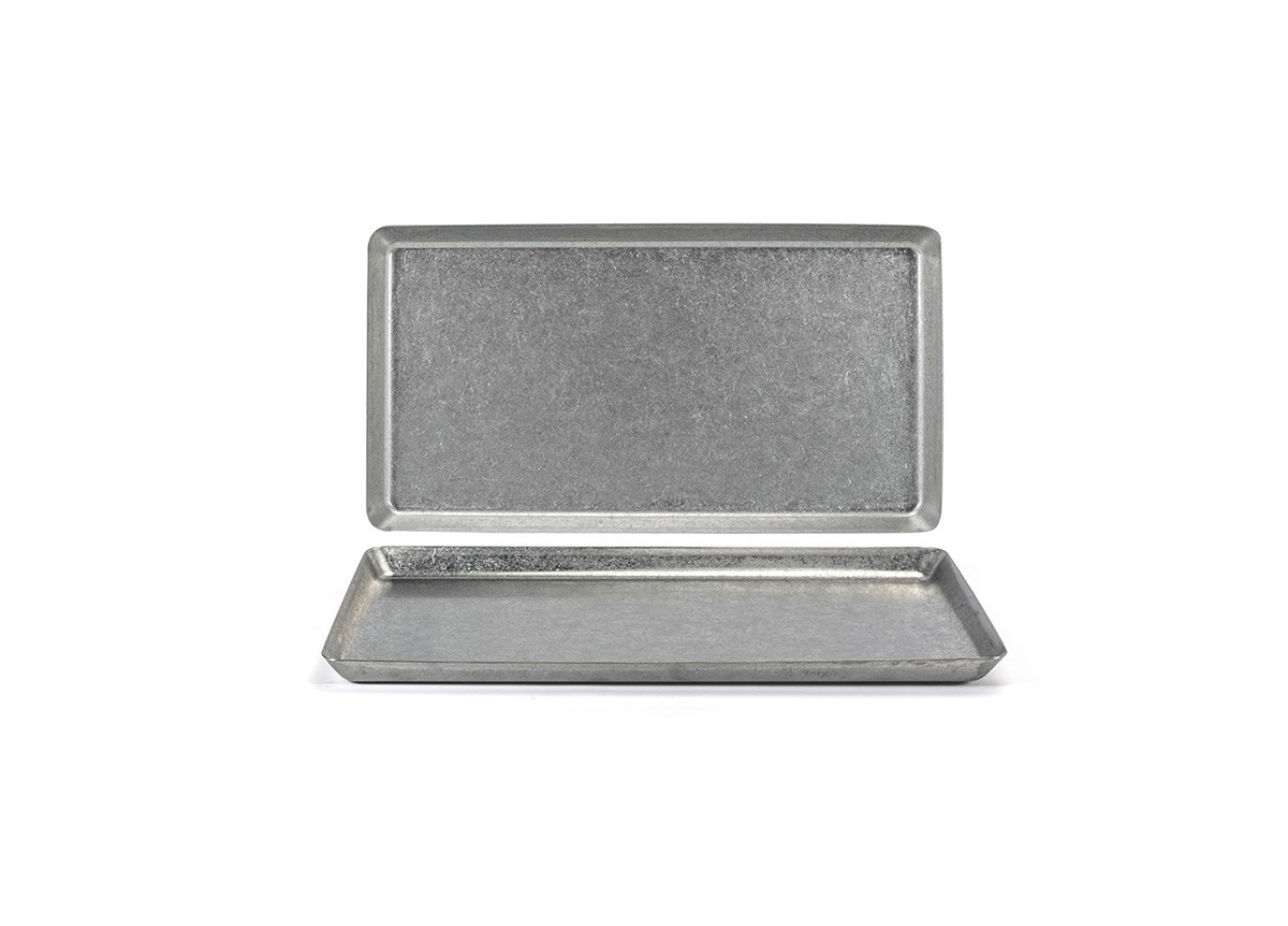 "12.5"" x 8.25"" Stainless Mod®  Plate - Antique"