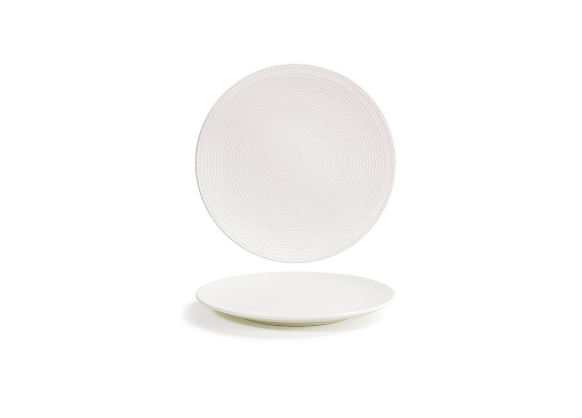 "8"" Round Catalyst Coupe Plate - Pearl"