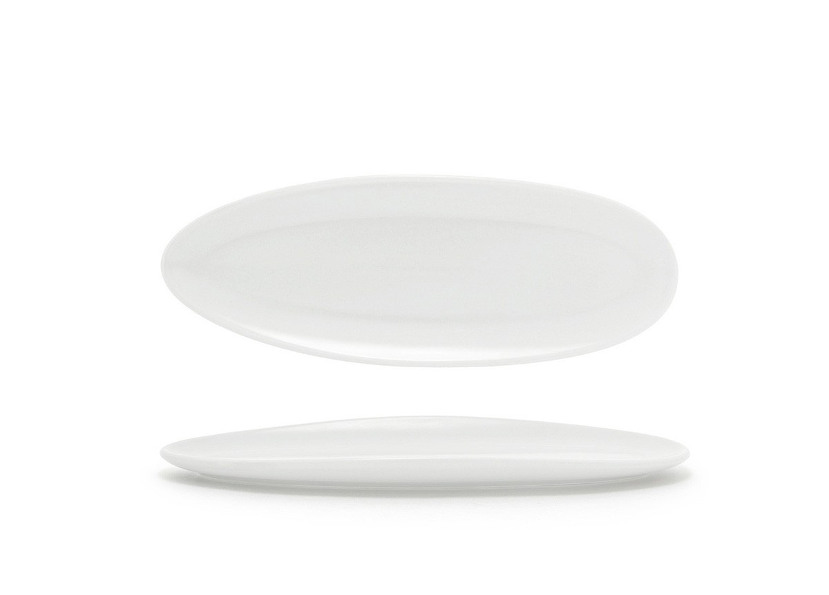 "11.5"" Slim Oval Tides®  Plate - White"