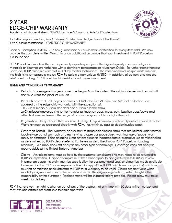 FOH 2 Year Edge-Chip Warranty