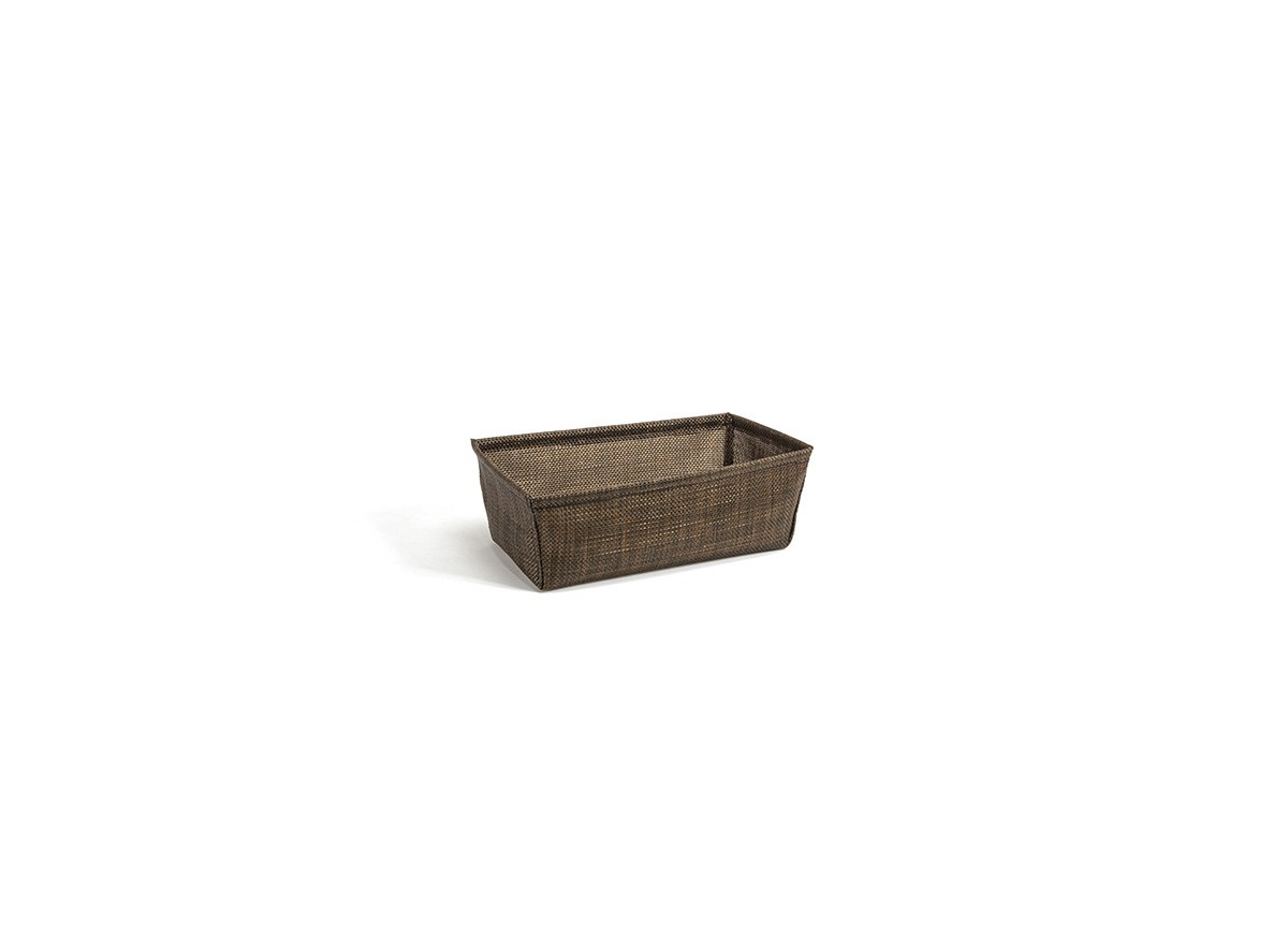 "8.5"" Rectangle Metroweave Basket - Mesh Copper"
