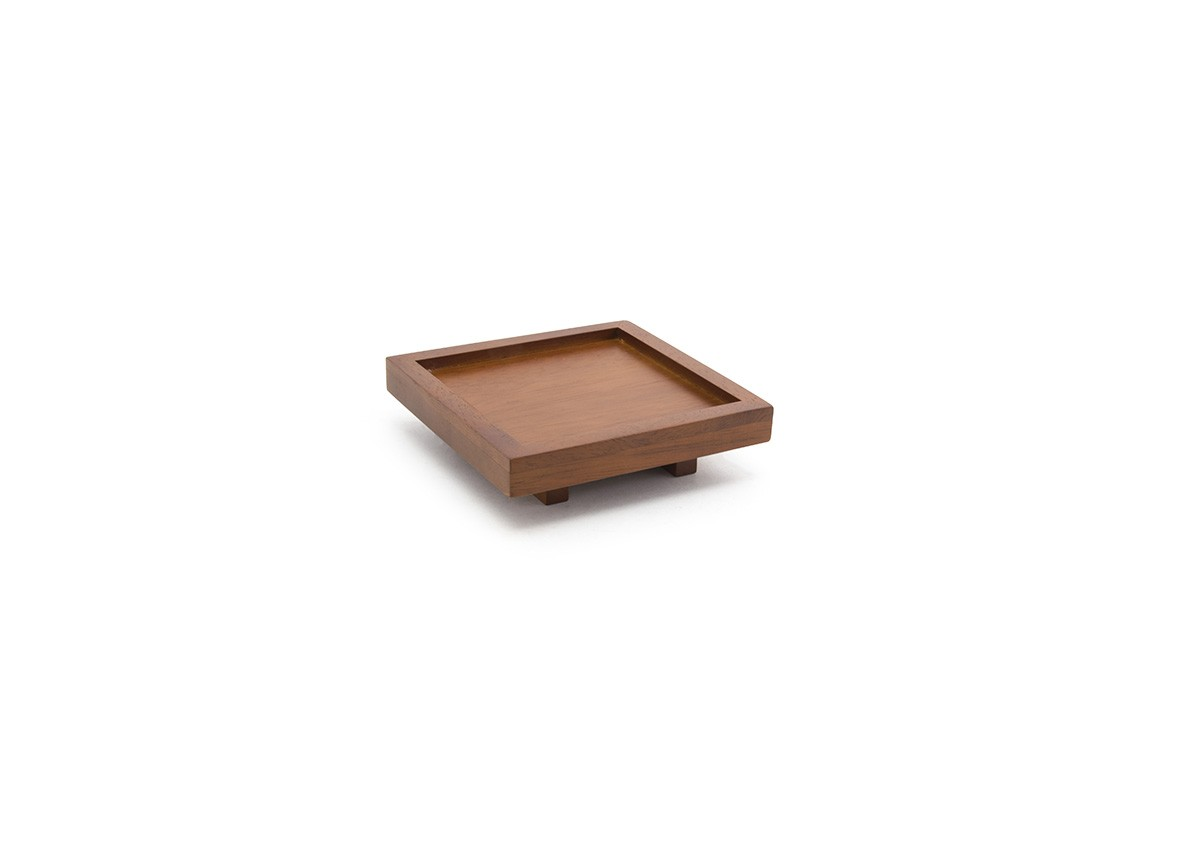 "4.5"" Rubberwood Square Tray"