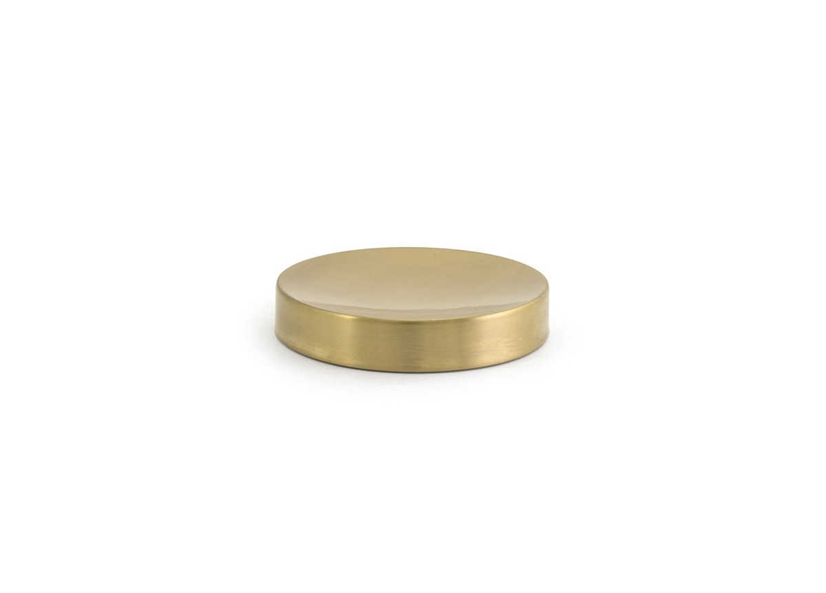 "4.25"" Round Brushed Stainless Dish - Matte Brass"