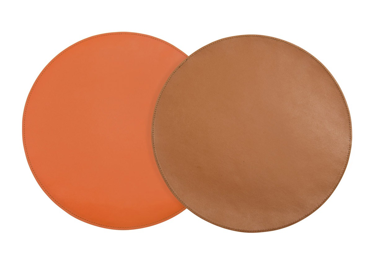 "12"" Round Reversible Liner/Mat - Saddle/Persimmon"