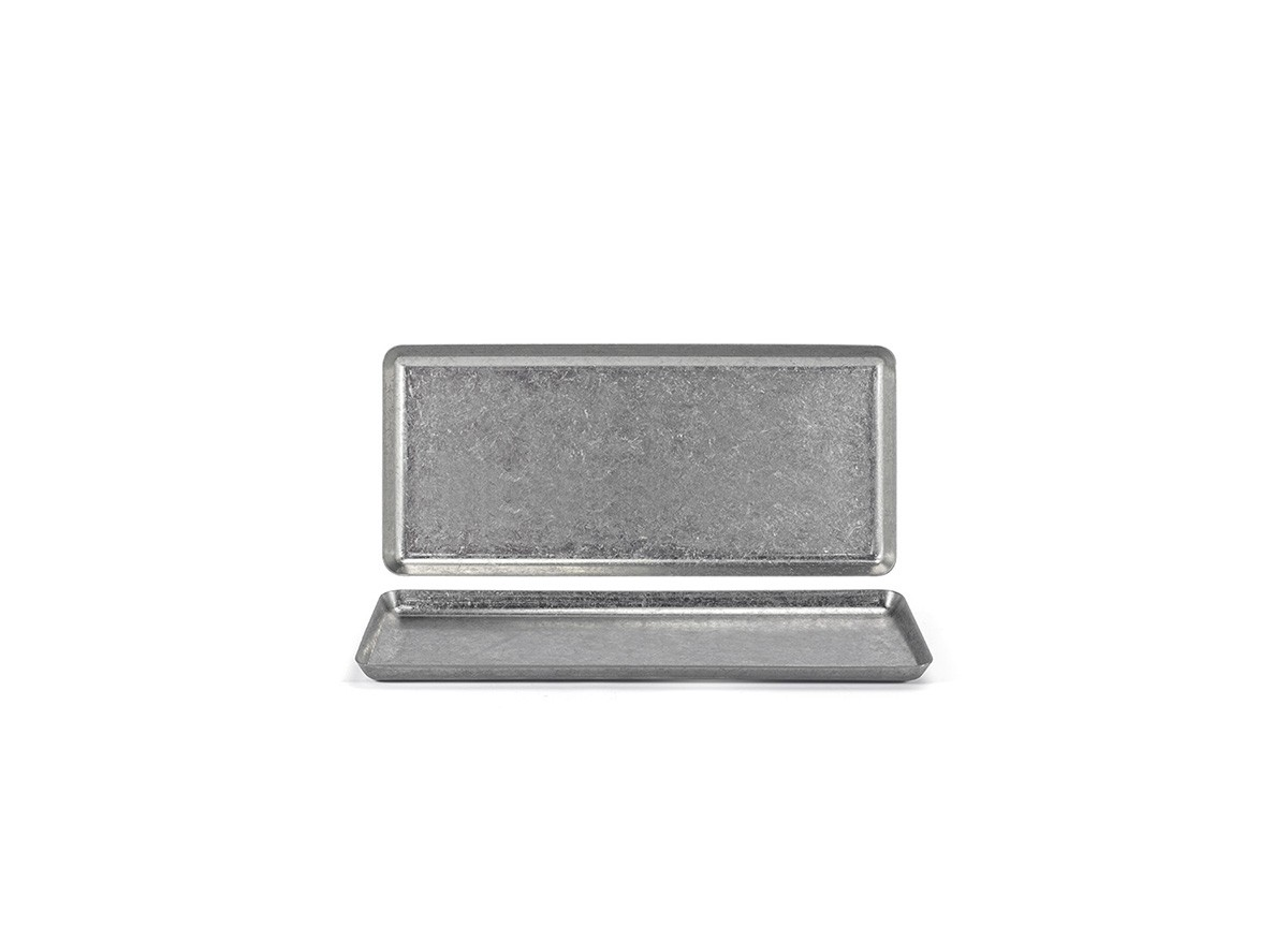 "10"" x 4.5"" Stainless Tray - Antique"