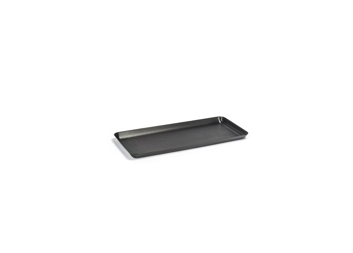 "10"" x 4.5"" Brushed Stainless Tray - Matte Black"