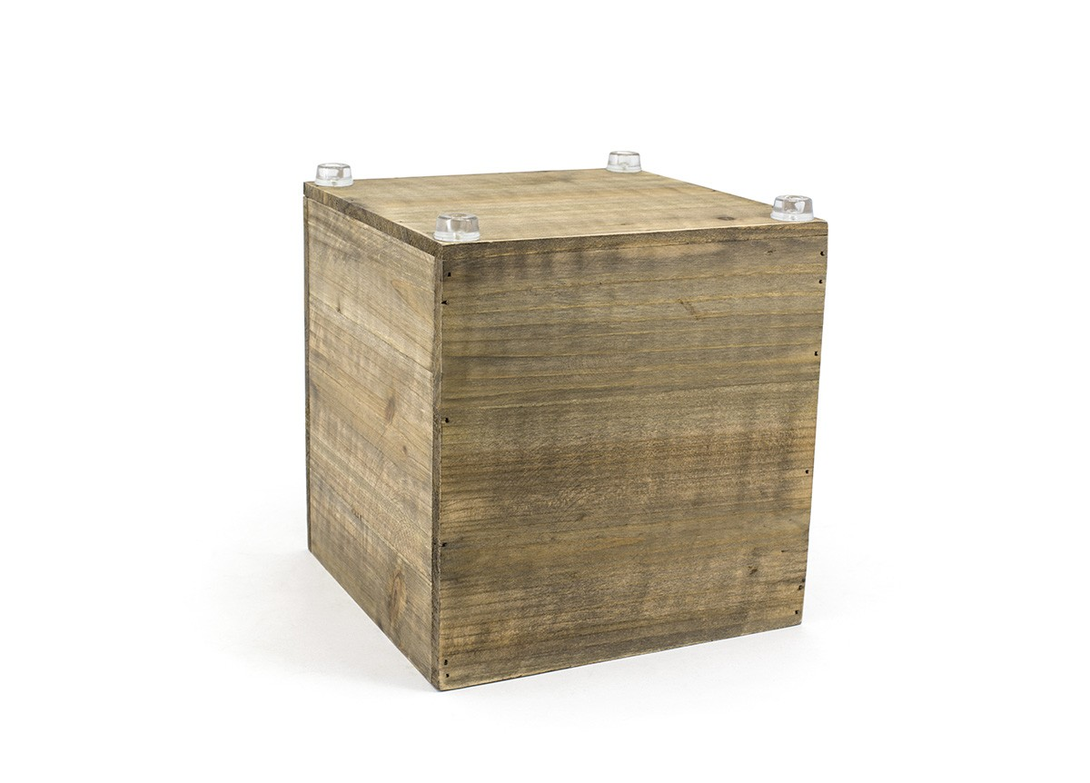 Rustic Wood Cube - Natural