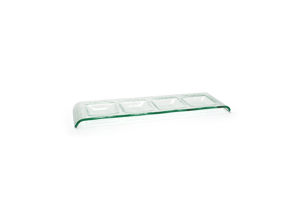 "16"" x 5"" Arctic Four Compartment Plate - Clear"