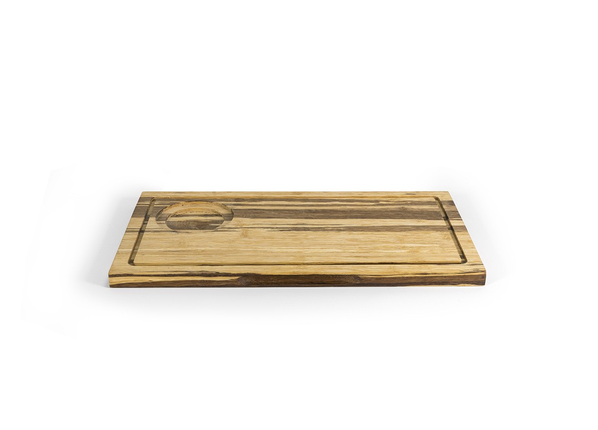 "13"" x 7"" Reversible Crushed Bamboo Board"