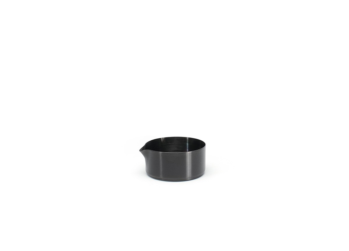 5oz Round Brushed Stainless Soho Pourer - Matte Black