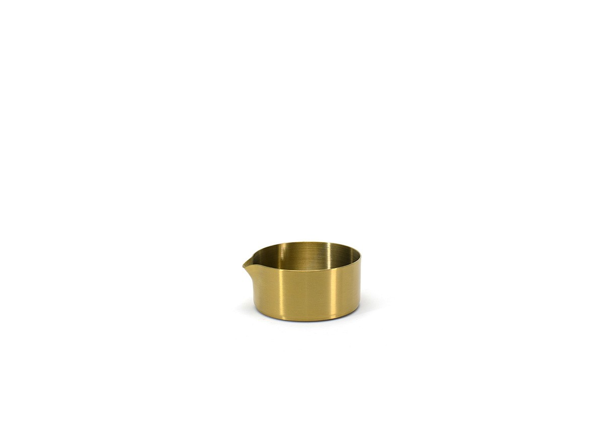 5oz Round Brushed Stainless Soho Pourer - Matte Brass