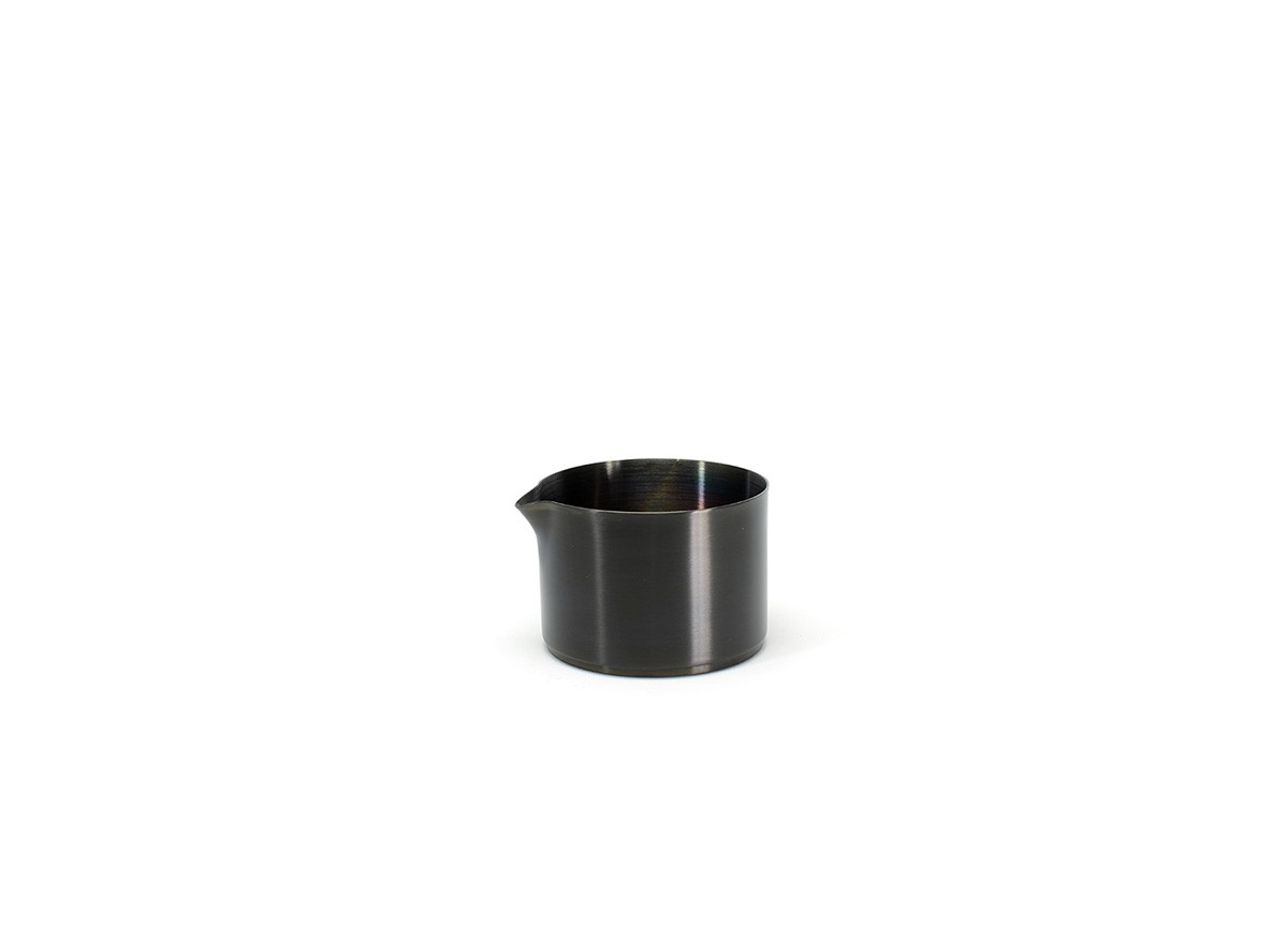 8oz Brushed Stainless Soho Pourer - Matte Black