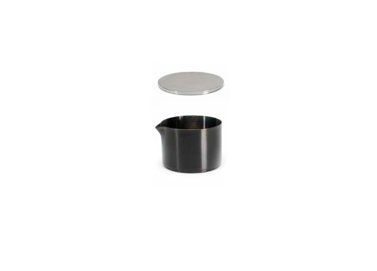 8oz Brushed Stainless Soho Pourer - Matte Black and Cover