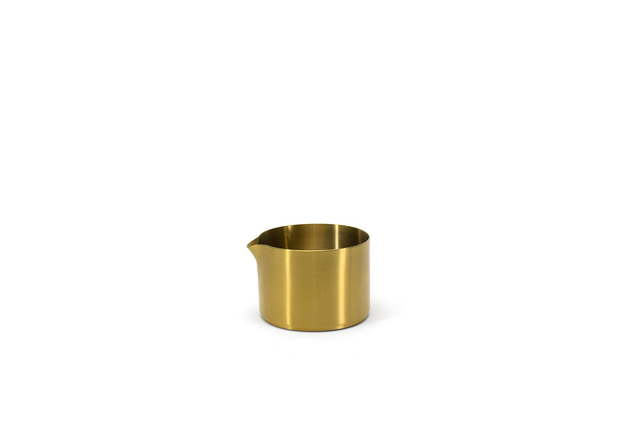 8oz Round Brushed Stainless Soho Pourer - Matte Brass
