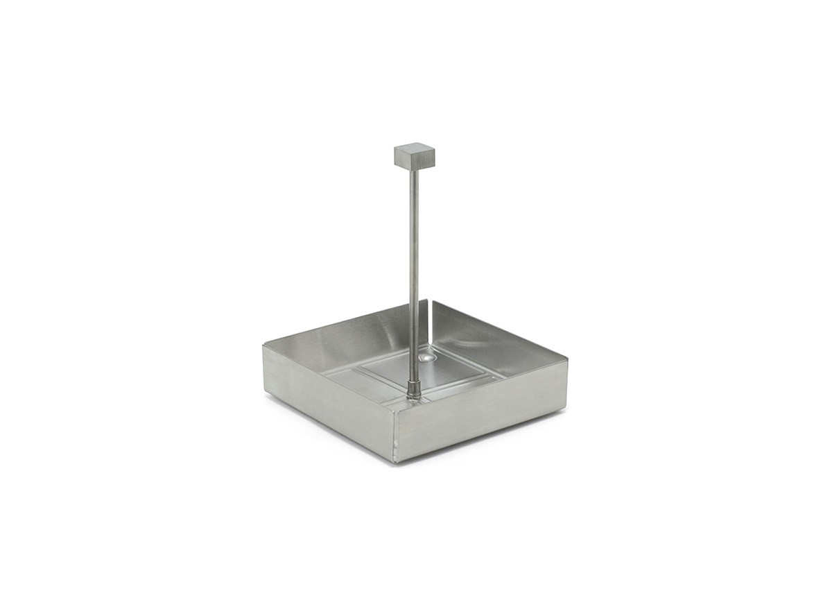 "4.5"" Square Brushed Stainless Caddy - Silver"