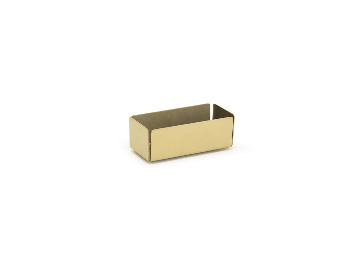 "4.75"" x 2.25"" Brushed Stainless Holder - Matte Brass"
