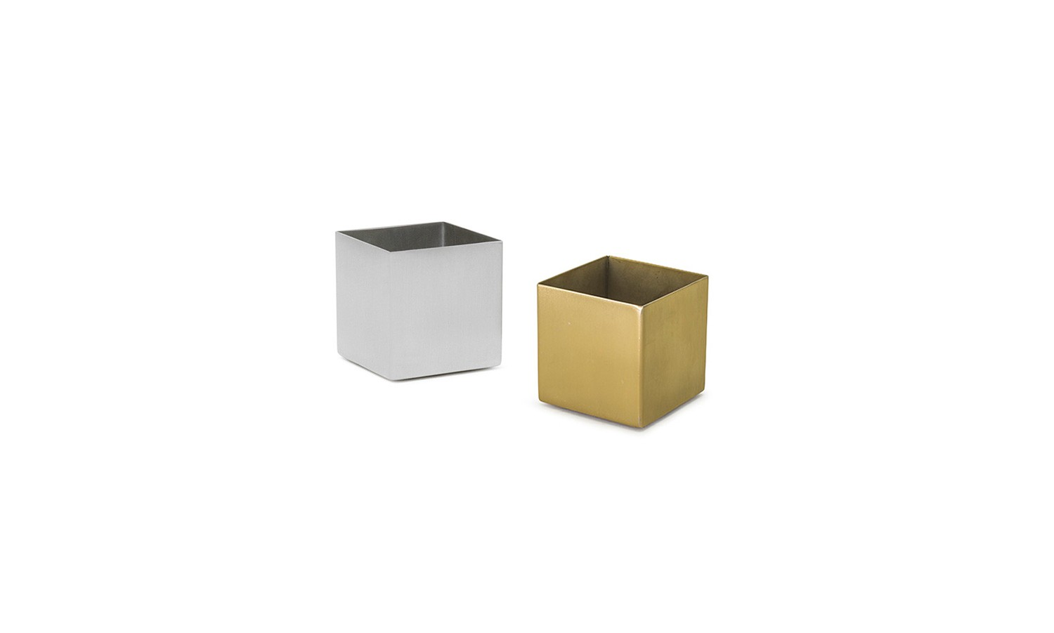 4oz Square Brushed Stainless Ramekin