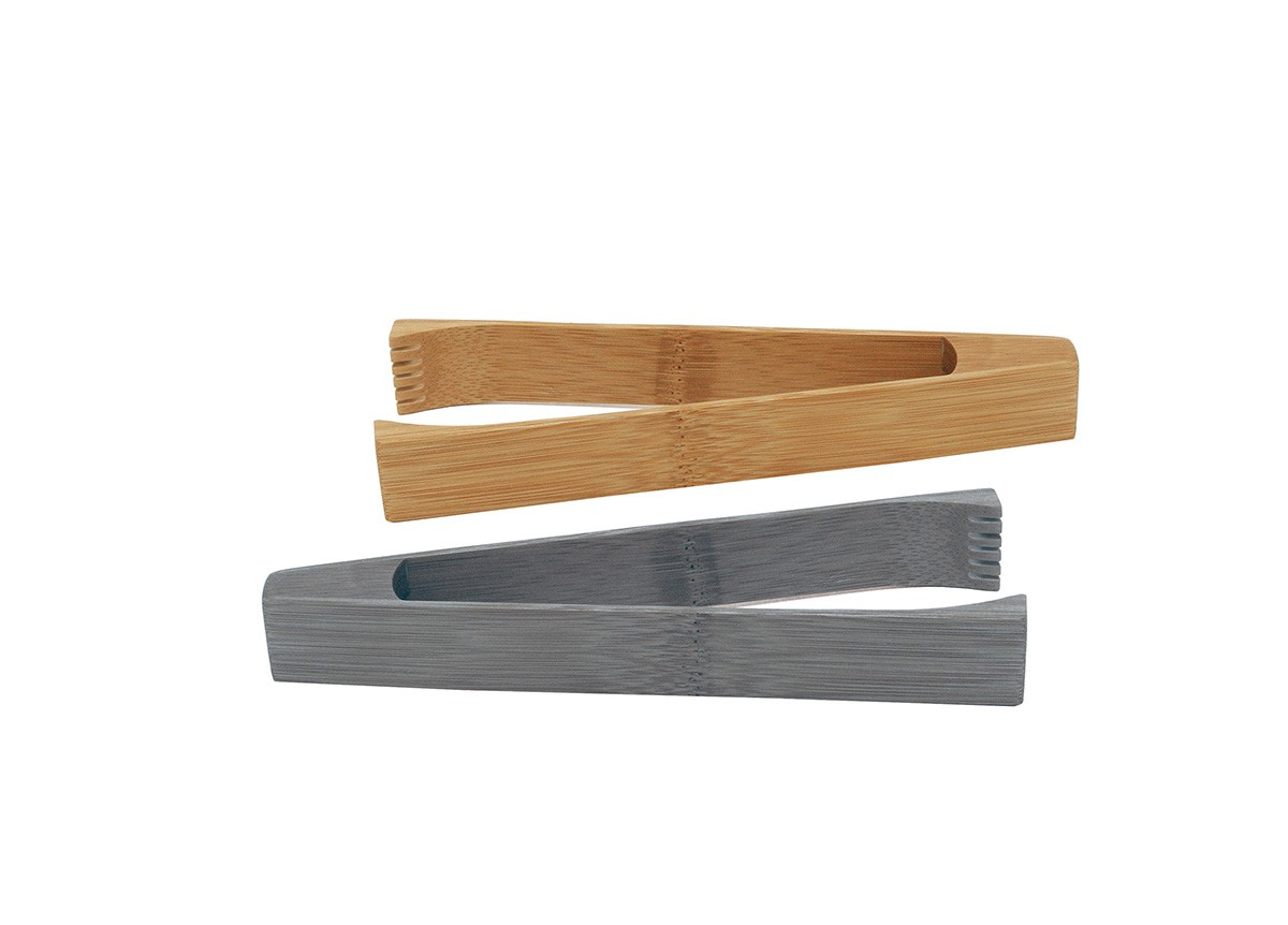 "7.25"" Bamboo Tongs"