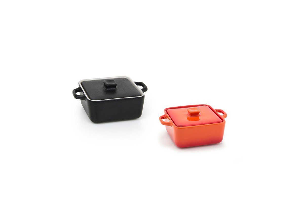 8oz Square Kiln®  Ovenware Dish with Lid