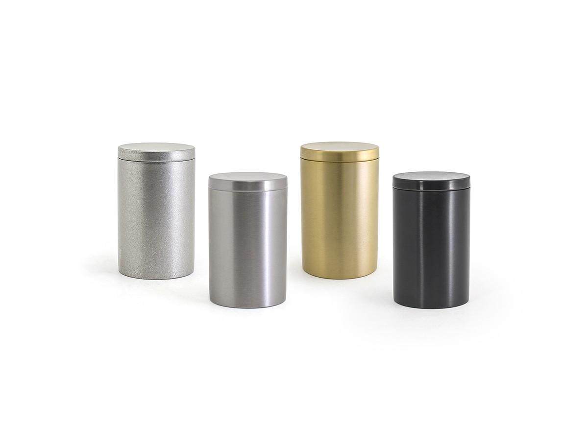 Round Stainless Jar with Lid