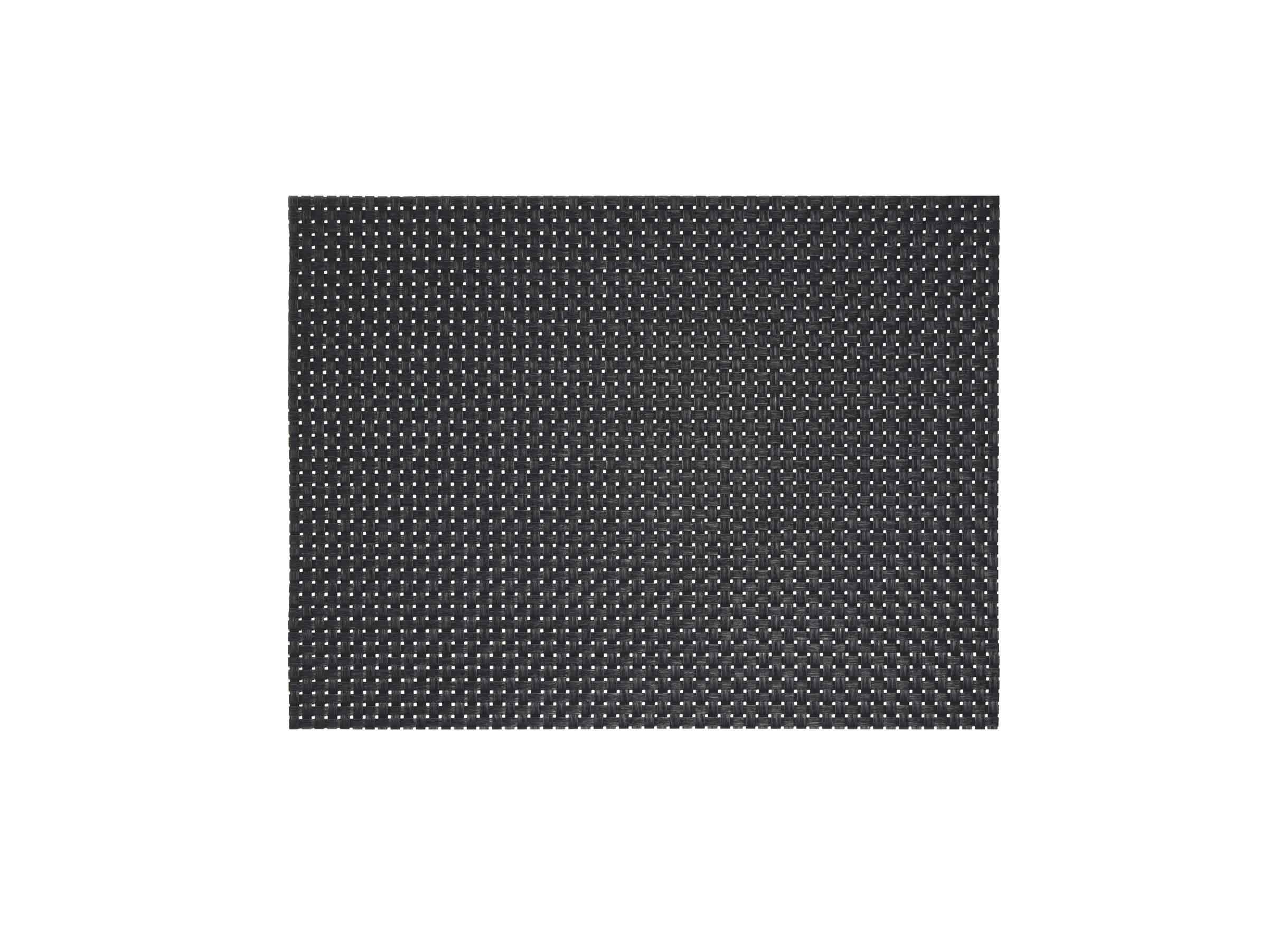 "16"" x 12"" Metroweave Large Basketweave Mat - Black"