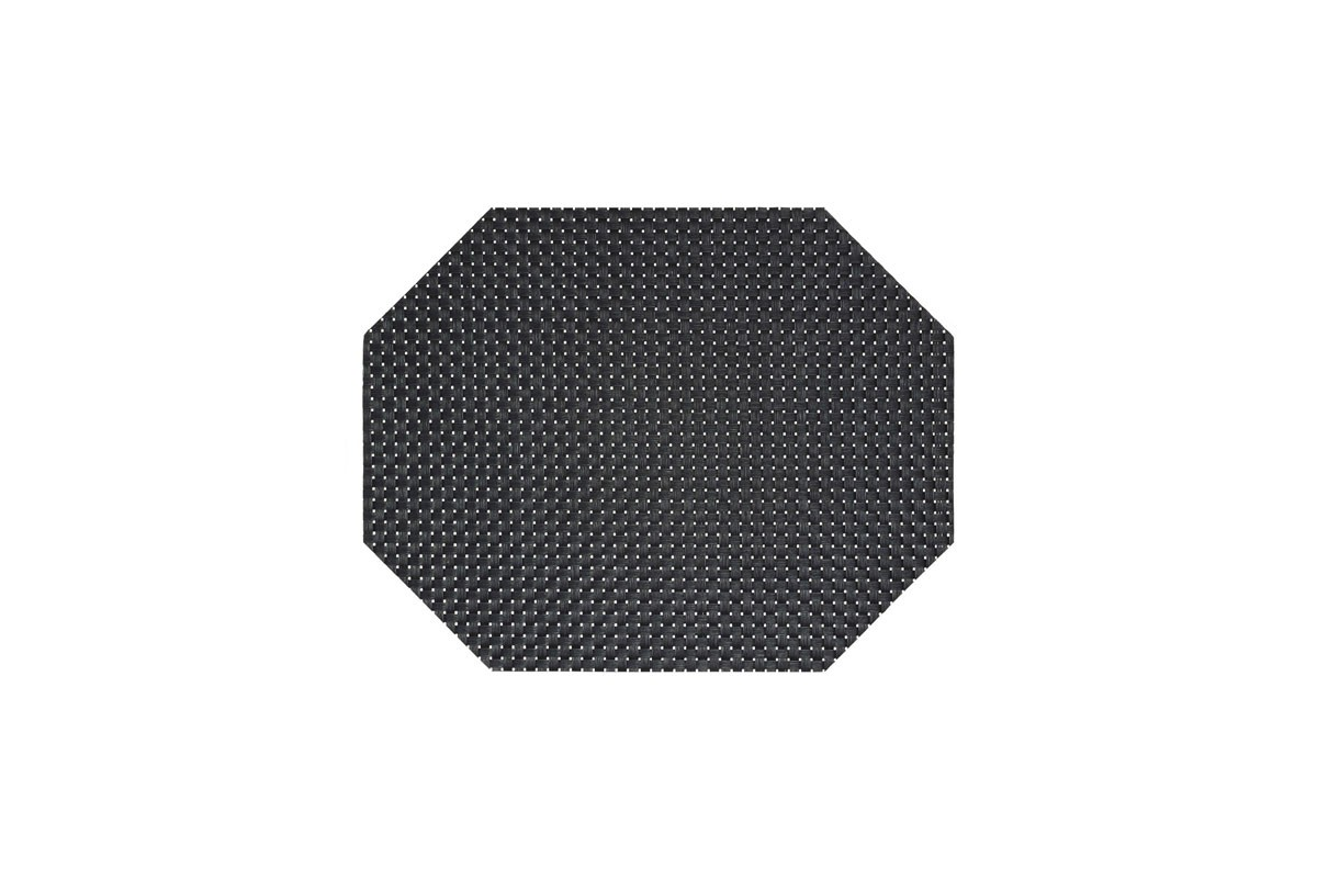 "14"" x 11"" Metroweave Large Basketweave Mat - Black"