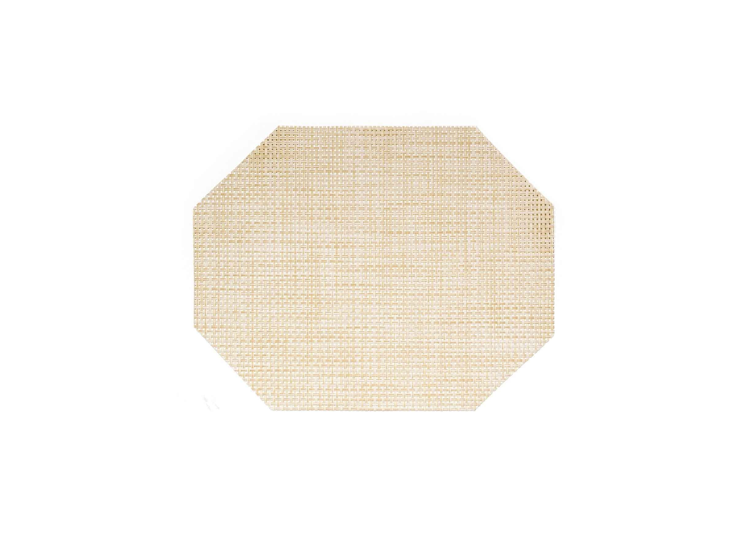 "14"" x 11"" Metroweave Basketweave Mat - Natural"