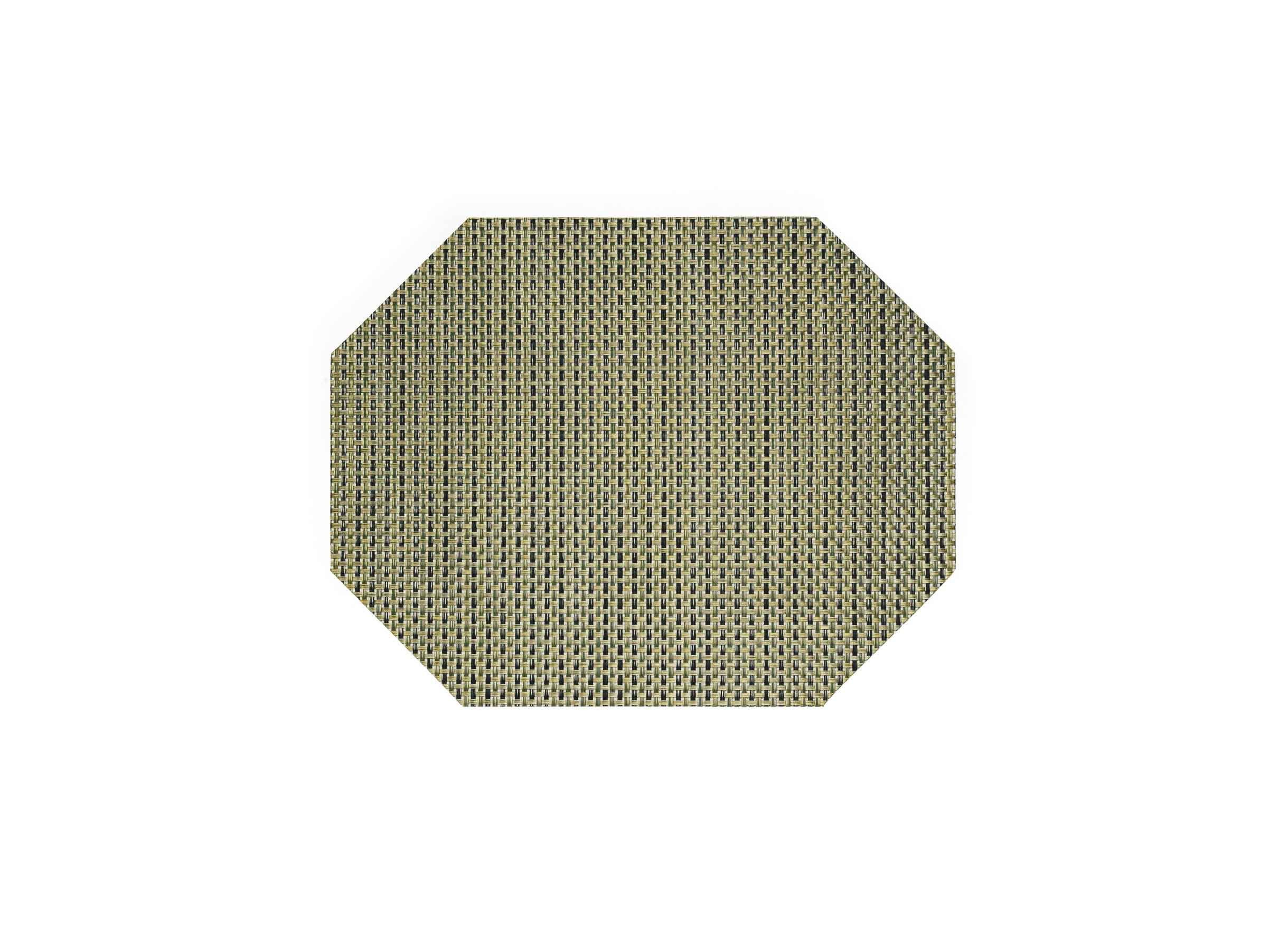 "14"" x 11"" Metroweave Basketweave Mat - Gold"