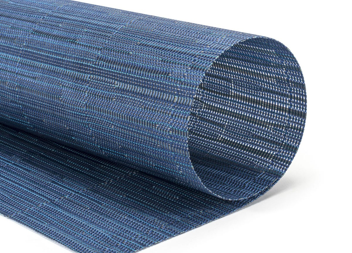 "16"" x 12"" Metroweave Rush Mat - Blues"