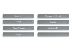 Salad Dressing Carafe Labels - Set of 8