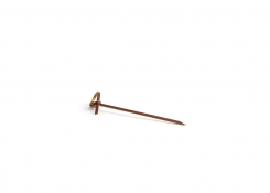 "3.5"" Knotted Bamboo Pick - Sepia - 100 per Bag"