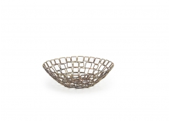 "10"" Round Coppered Link Basket"