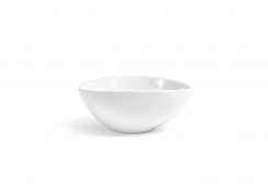 "9.5"" Oval Tall Kiln Bowl - 60oz - White"