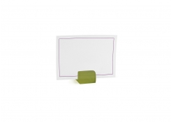 "1"" Square Resin Menu/Sign Holder - Sage"