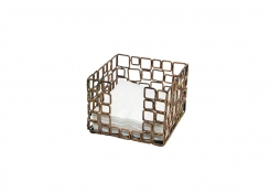 "5.5"" Square Coppered Link Napkin Holder"