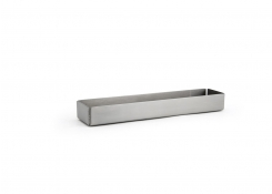 "8.5"" x 2"" Brushed Stainless Holder - Silver"