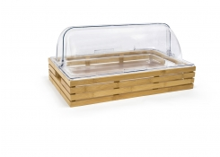 Full Size Bamboo Basket/Pan Set - Shallow and Cover