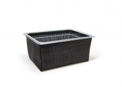 1/2 Size Metroweave®  Housing/Pan Set - Deep - Random Weave Black