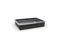 1/2 Size Metroweave® Housing/Pan Set - Shallow - Random Weave Black