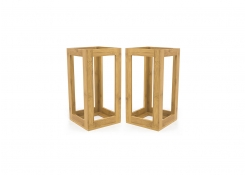 "13"" Bamboo Risers - Set of 2 - Natural"