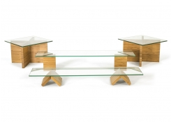 Buffet Essentials - Bamboo - Clear Glass on Natural