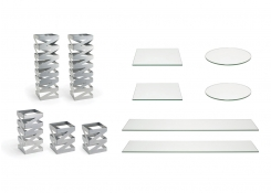 Buffet Essentials - Zig Zag - Clear Glass on Silver