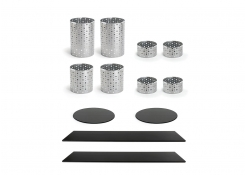 Buffet Essentials - Dots - Black Bamboo on Silver