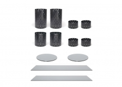 Buffet Essentials - Dots - Smoke Glass on Matte Black