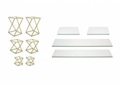 Buffet Essentials - Twist - Clear Glass on Matte Brass