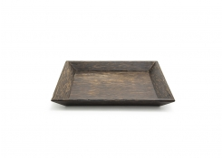 "9.5"" Square Palm Wood Plate"