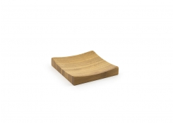 "4"" Square Bamboo Flare Plate"