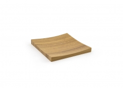 "5"" Square Bamboo Flare Plate"