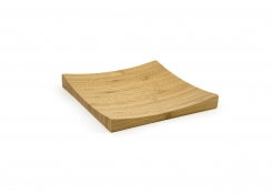 "6.25"" Square Bamboo Flare Plate"